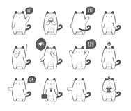 Satz Katzen einer nette Karikatur Stockfotografie