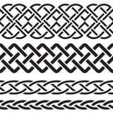 Satz keltische Muster-Grenzen Stockfoto