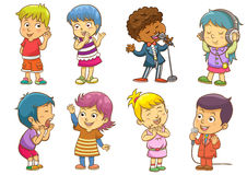 Satz Kindertätigkeitsprogramme Lizenzfreies Stockbild