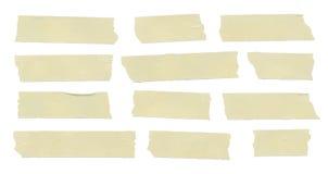 Satz klebrige Art der horizontalen und unterschiedlichen Größe Stockfoto