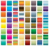 Satz Knopfikonen für Ihr Design Stockfoto