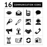 Satz Kommunikationsikonen stock abbildung