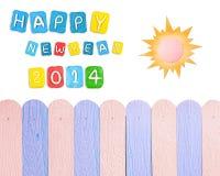 Satz Konzeptkarte Jahres 2014 gemacht vom Plasticine Lizenzfreie Stockbilder