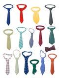Satz Krawatten Stockfoto