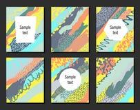 Satz kreative Universalkarten Stockfoto