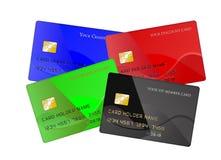 Satz Kreditkarten Stockfotos