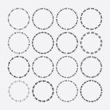 Satz Kreisgrenze dekorativ, Pfeilsymbolmuster und Gestaltungselemente lizenzfreie abbildung