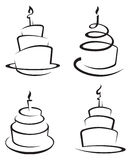 Satz Kuchen Lizenzfreie Stockbilder