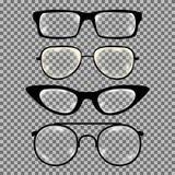Satz kundenspezifische Gläser lokalisiert vektor abbildung