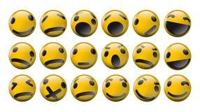Satz Lächeln des orange Gelbs Lizenzfreies Stockbild