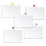 Satz leere Rahmen lokalisiert auf weißem Hintergrund Lizenzfreie Stockbilder