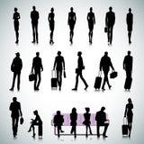 Satz Leute in einem Flughafen Lizenzfreies Stockfoto