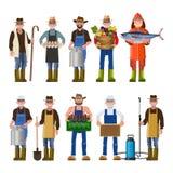 Satz Leute von verschiedenen Berufen stock abbildung