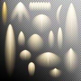Satz Lichteffekt des Glühens ENV 10 Stockbild