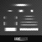 Satz Lichteffekte Lizenzfreie Stockfotografie