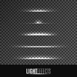 Satz Lichteffekte Stockbild