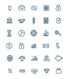 Satz lineare Ikonen des Netzes für Geschäft, Finanzierung Lizenzfreie Stockbilder