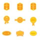 Satz Logos für Honigprodukte Lizenzfreie Stockbilder