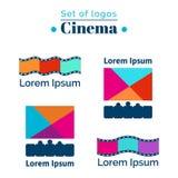 Satz Logos für Kino, Filmhaus ENV, JPG Lizenzfreie Stockbilder
