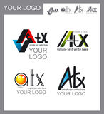 Satz Logos, Unternehmenssymbole Stockfoto