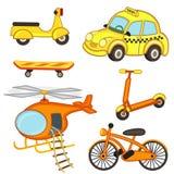 Satz lokalisierter Transport Stockfotos