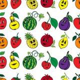 Satz lustige Frucht der Karikatur 10 Lizenzfreie Stockfotografie