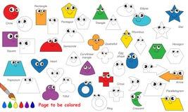Satz lustige geometrische verfolgt zu werden Formen Vektorspurnspiel Lizenzfreie Abbildung