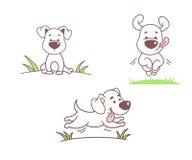 Satz lustige Hunde Lizenzfreies Stockfoto