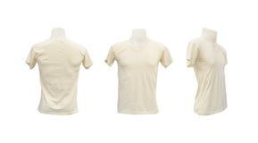 Satz männlicher T-Shirt Schablone auf dem Mannequin Lizenzfreie Stockfotos