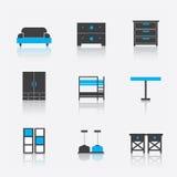 Satz Möbel für Innenraum Stockfotografie