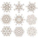 Satz Mandalen Ethnische dekorative Elemente Islam, Arabisch, Indi vektor abbildung