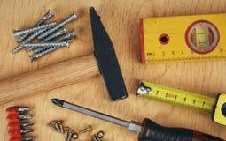 Satz manuelle Arbeitsgeräte Stockfotografie