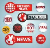 Satz Medienaufkleber Lizenzfreies Stockfoto