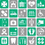 Satz medizinische Ikonen Stockbild