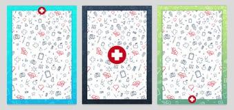 Satz medizinischer Poster Sträflinge und Arme Vektormedizinillustration stock abbildung