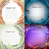 Satz mehrfarbige abstrakte Rahmen für Text Stockbilder