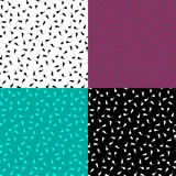Satz mehrfarbige nahtlose Muster mit Locken lizenzfreies stockfoto