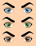 Satz menschliche Augen Lizenzfreies Stockfoto