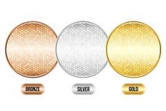 Satz metallische Luxushintergründe Lizenzfreie Stockbilder