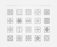 Satz minimale geometrische Formen Stockbilder