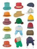 Satz Männer ` s Hüte Stockfoto