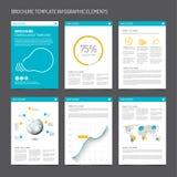 Satz moderne Broschürenflieger-Designschablonen Lizenzfreies Stockfoto