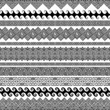 Satz moderne nahtlose Vektorbürsten für die Schaffung von Rahmen Stockbild