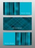 Satz moderne Vektorfahnen mit hape Lizenzfreie Stockbilder