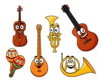 Satz Musikinstrumente Lizenzfreies Stockfoto