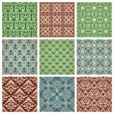 Satz Muster Stockbilder