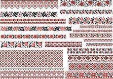 Satz Muster für Stickerei-Stich Lizenzfreies Stockfoto
