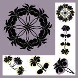 Satz Muster mit Blumenmotiven Lizenzfreie Stockfotografie