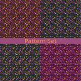 Satz Muster mit Farbe-ooo ooo Lizenzfreie Stockfotografie