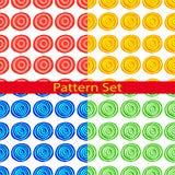 Satz Muster mit hellen Kreisen Lizenzfreie Stockbilder